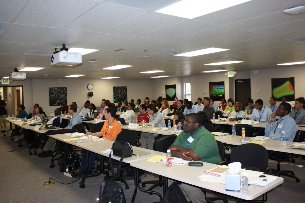Students participating in a National Laboratories Professional Development Workshop
