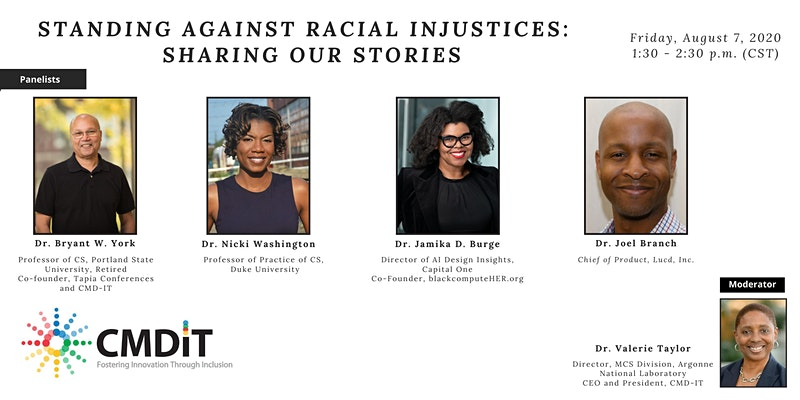 Panelists for Standing Against Racial Injustices: Sharing Our Stories