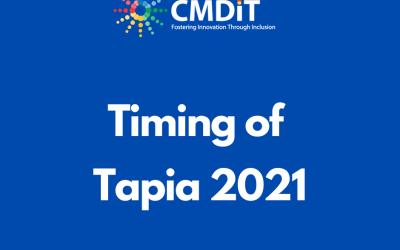 Timing of Tapia 2021 and Yom Kippur